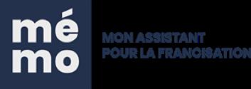 Logo de la plateforme en ligne MEMO, mon assistant pour la francisation.